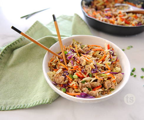 Teriyaki Egg Roll in a Bowl Recipe