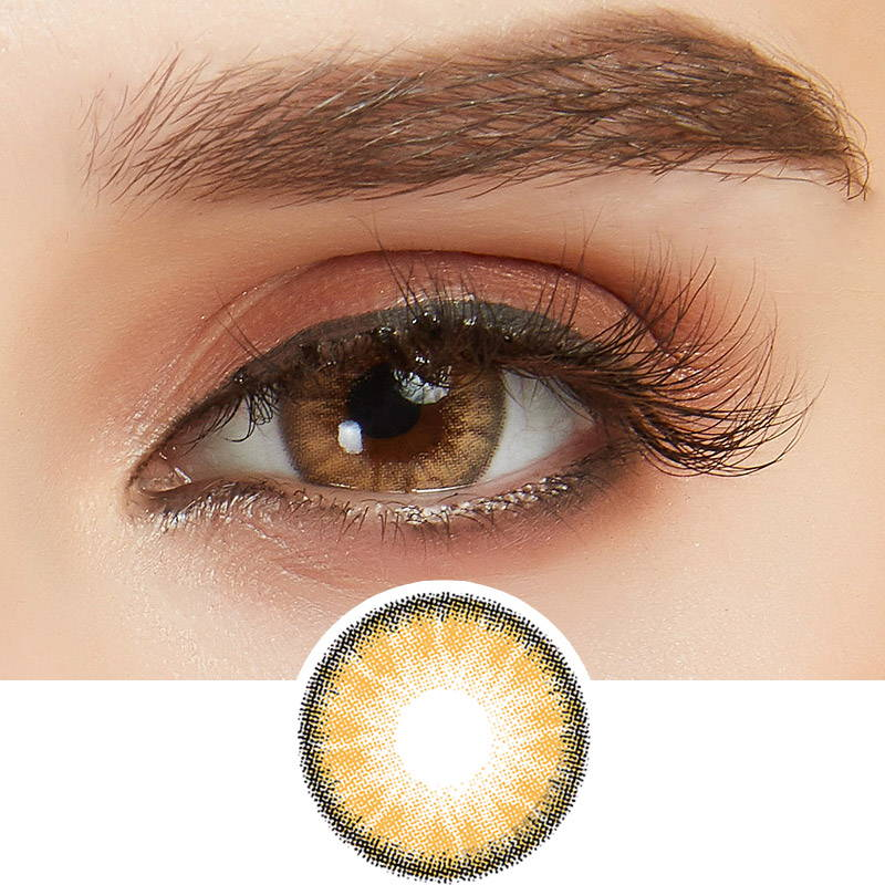 toffee brown contact lens
