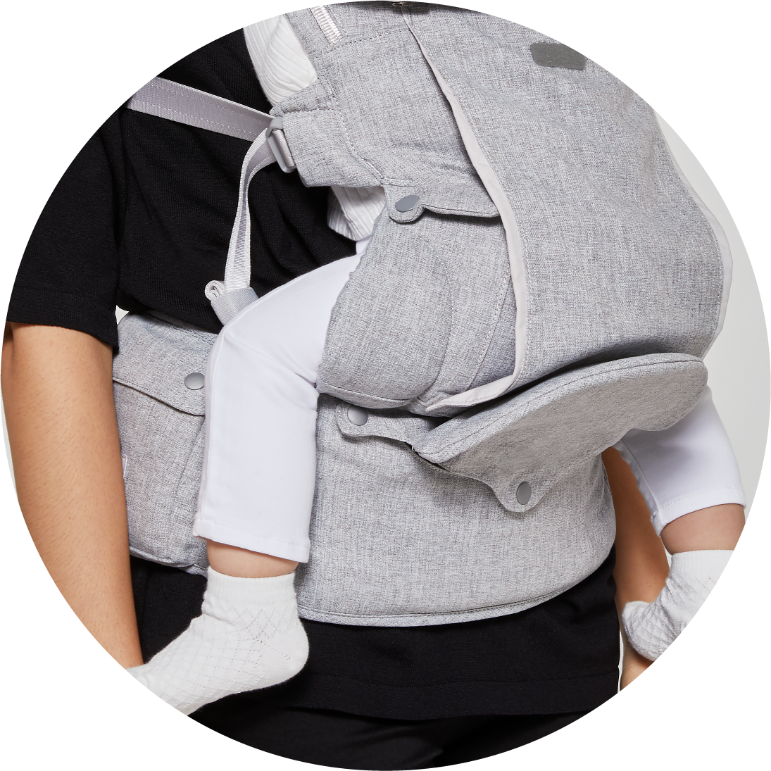 bebefit smart baby carrier convertible hip seat in the up position