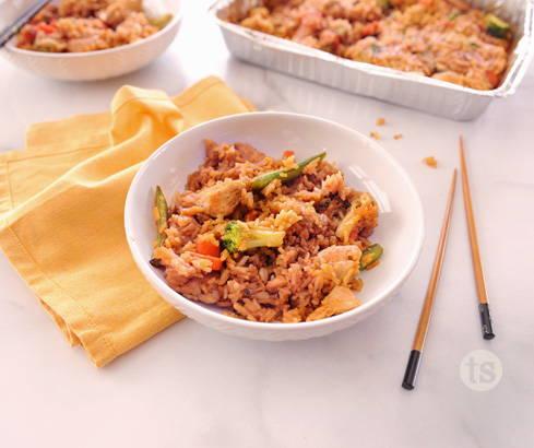 honey teriyaki chicken & rice