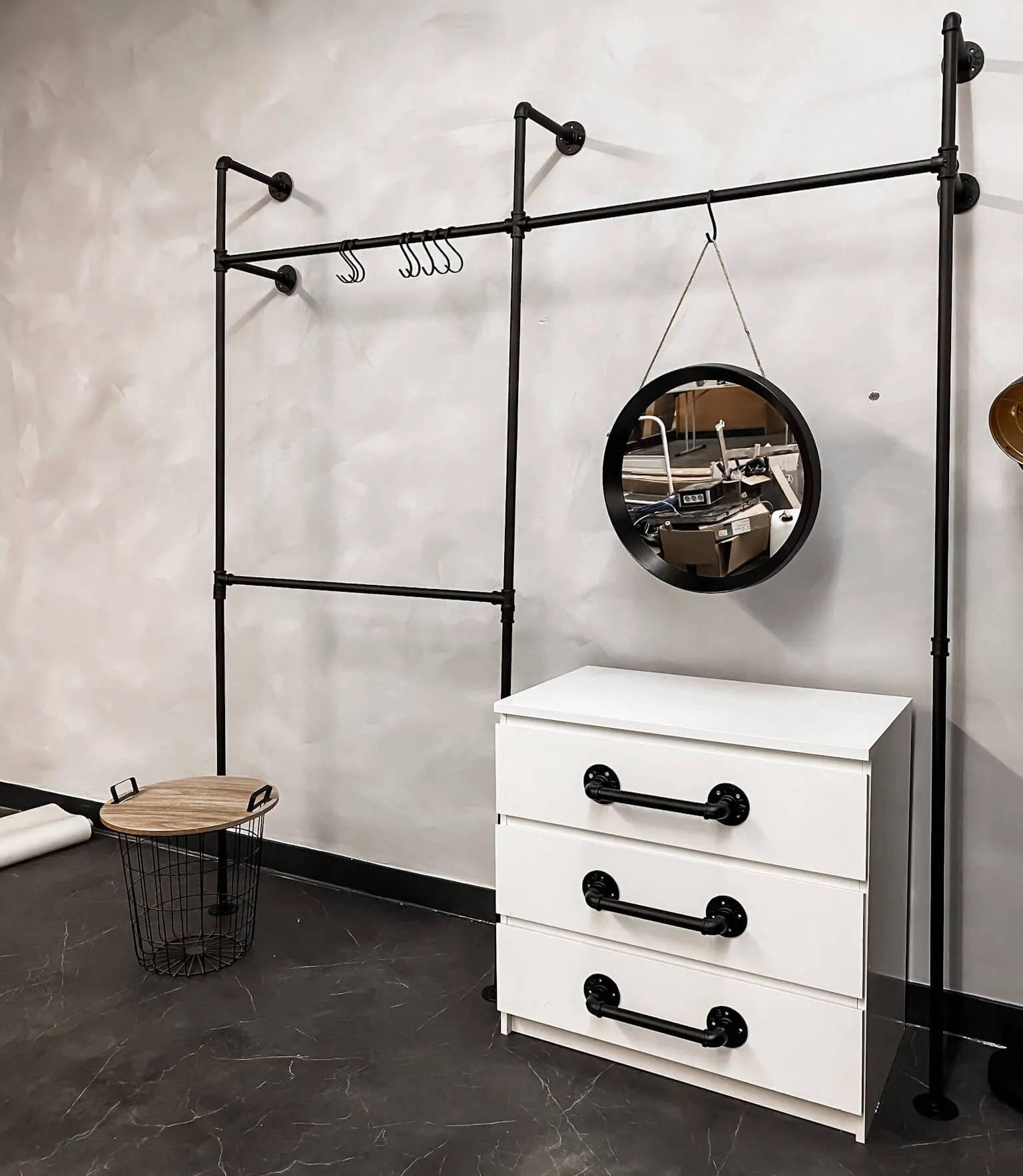 Möbel Upcycling DIY für Industrial Schrankgriff aus Rohr