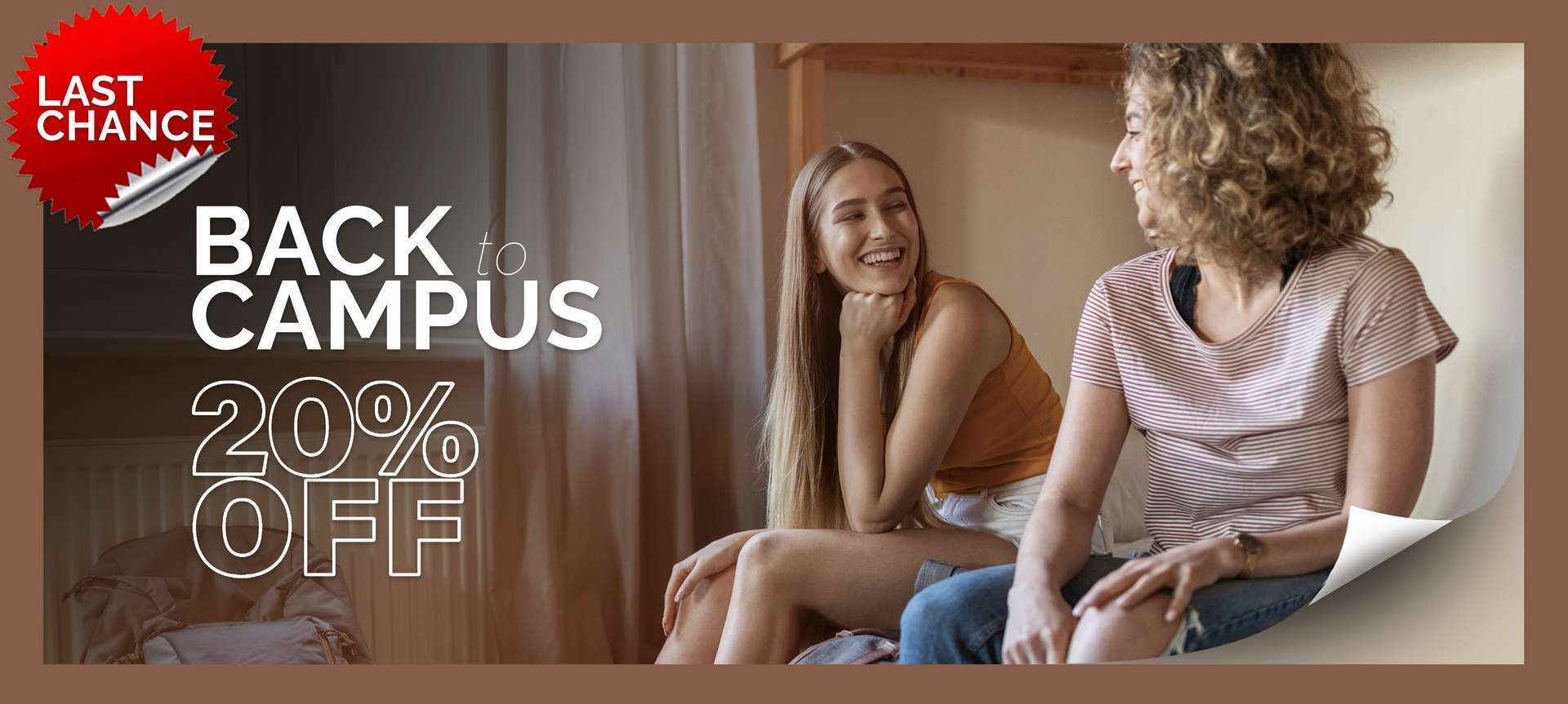 Banner image of two girls in a dorm room