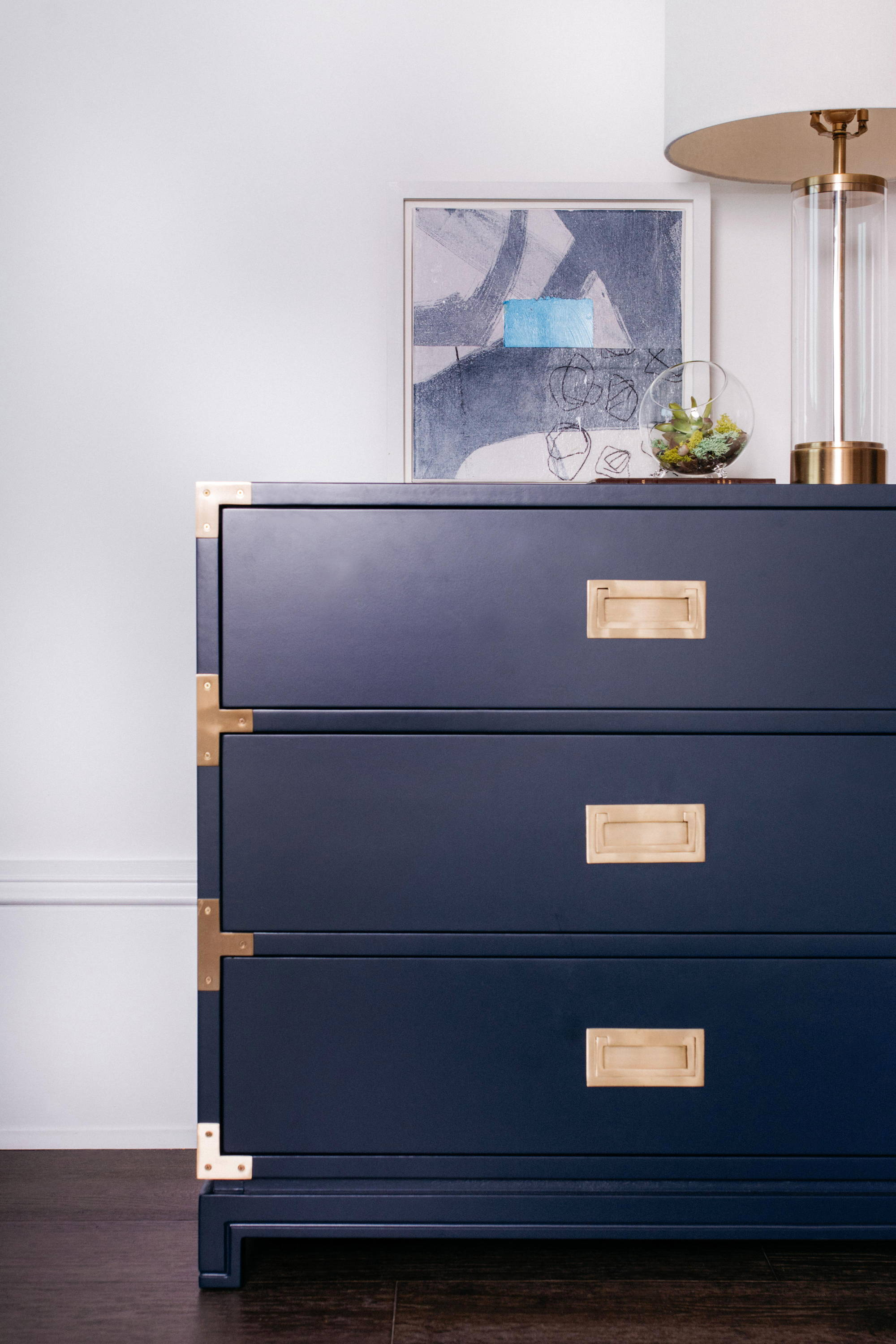 Ave Home | Small Carlyle Campaign Dresser in Navy