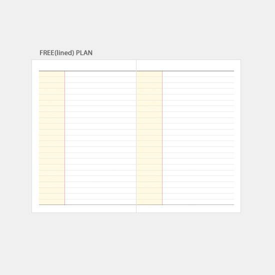 Free(lined) note - 3AL 2020 Today journey dated weekly diary planner