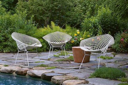 Knoll Bertoia Diamond Chair in White