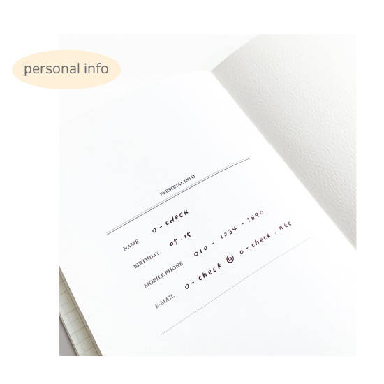 Personal data - O-CHECK 2020 Spring come dated monthly planner scheduler