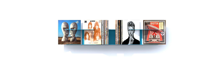 etagere metal vinyles contemporaine