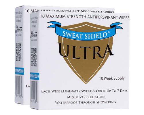 Sweat Shield Antiperspirant Wipes