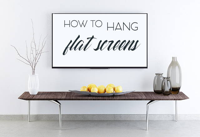 how to hang a flat screen tv on the wall
