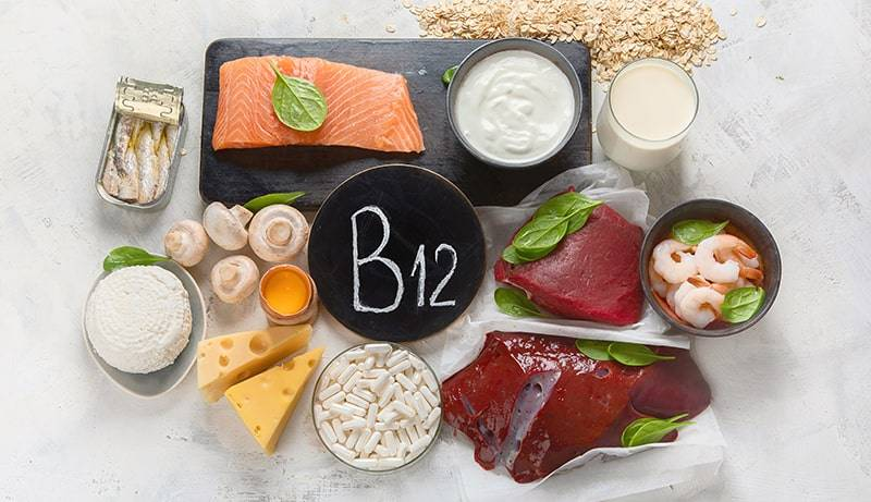 Vitamin B12 Sign With Foods