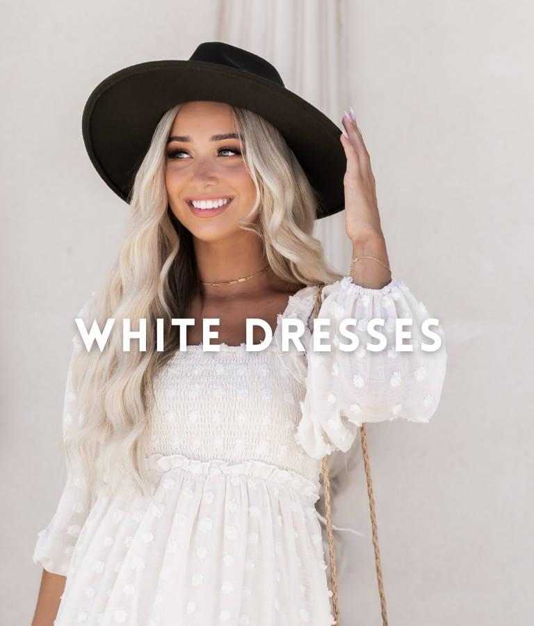 Bella Ella Boutique White Dresses