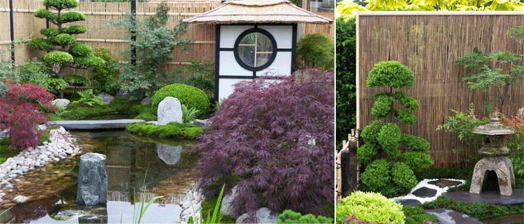 Le jardin japonais reste beau en toute saison, du printemps jusqu'en hiver.