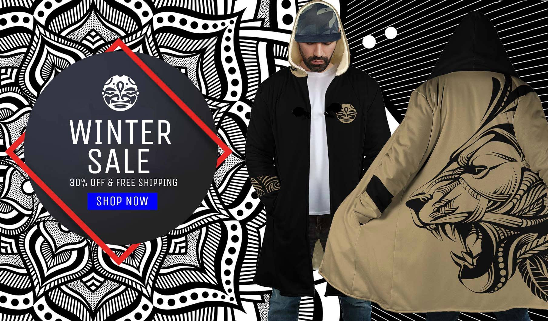 Mind Chill winter sale cloaks sherpa hood