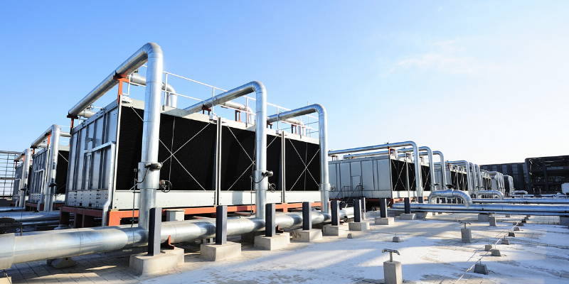 water cooling towers using harvested rainwater