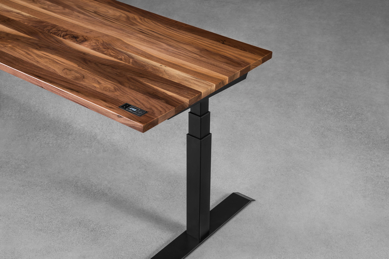 Sway walnut - sit-stand desk - ergonofis