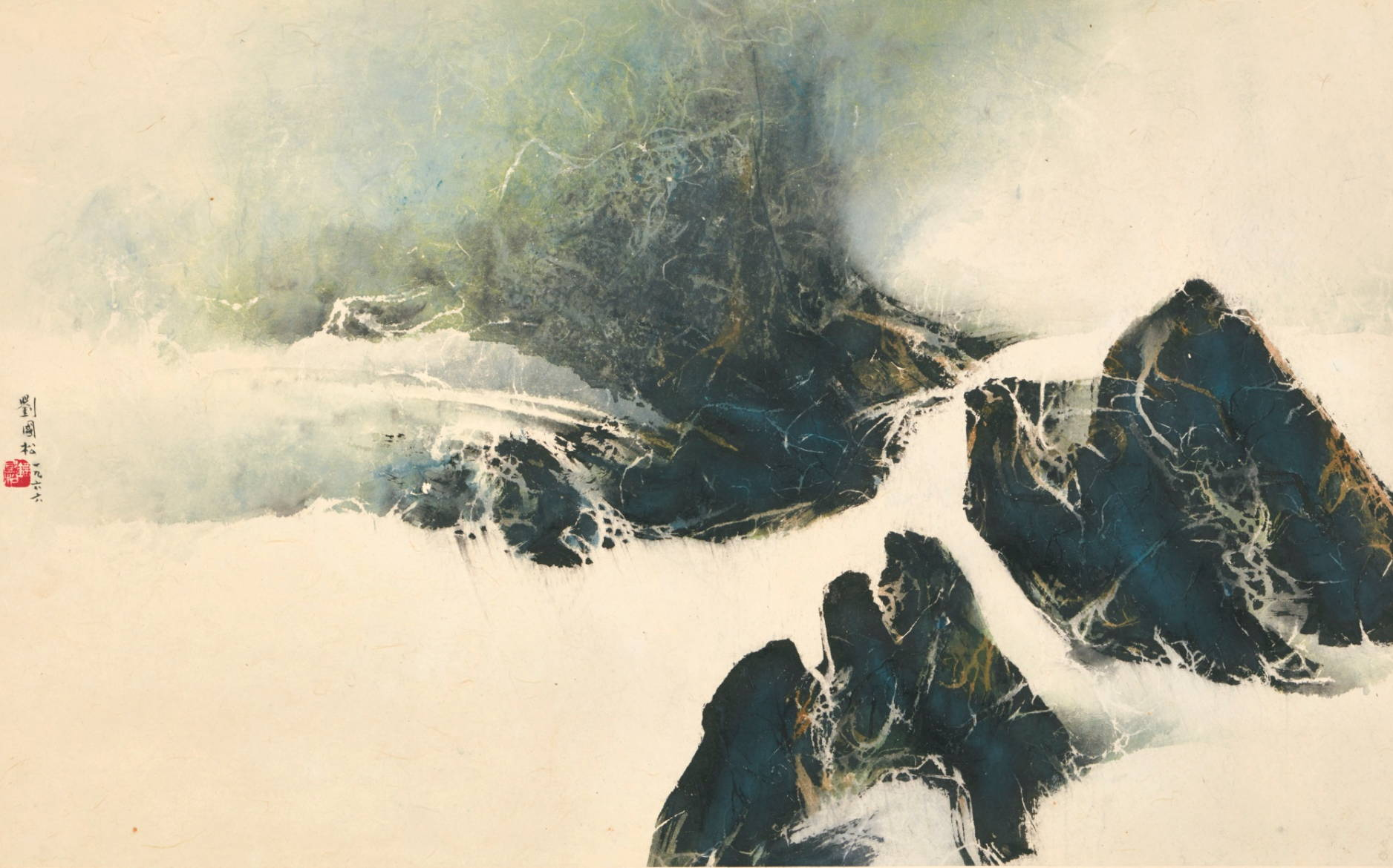 Ink landscape by Liu Kuo-Sung