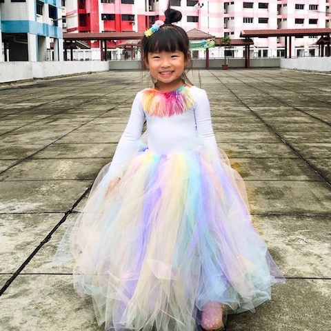 Rainbow Child Halloween Costume