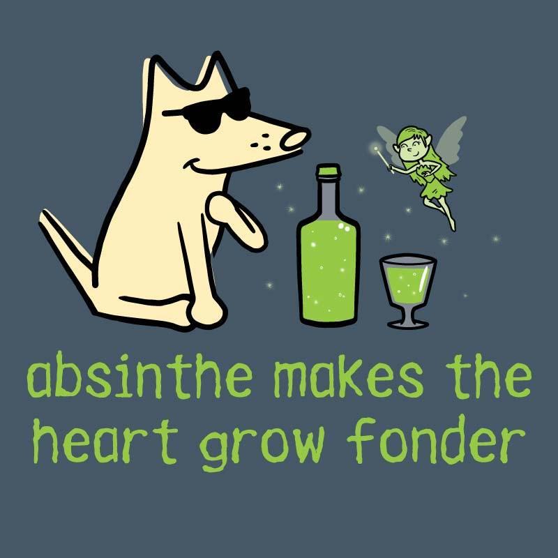 Shop teddy the dog absinthe makes the heart grow fonder