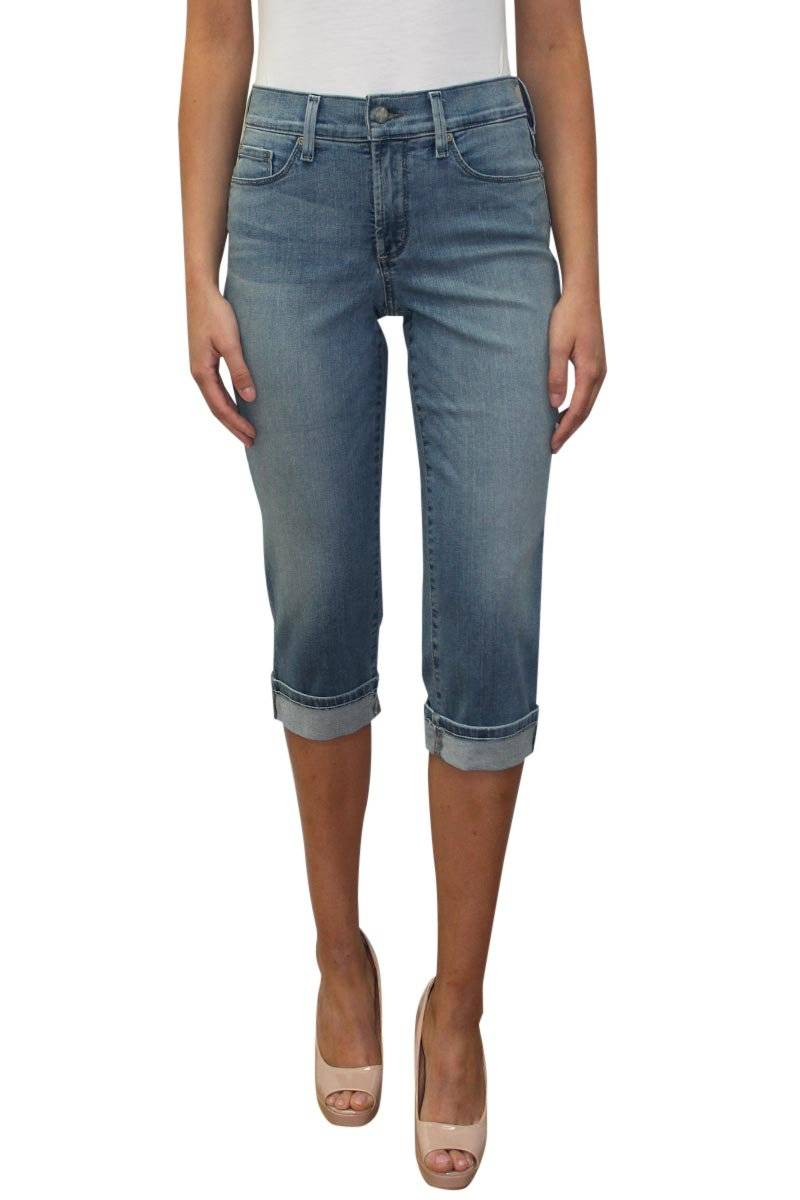 Marilyn Crop Cuffed Jean - Pacific