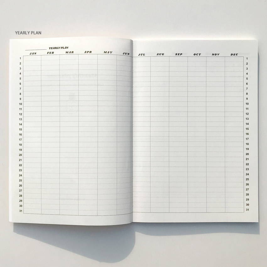 Yearly plan - Design Comma-B 2020 Retro mood dated monthly diary planner