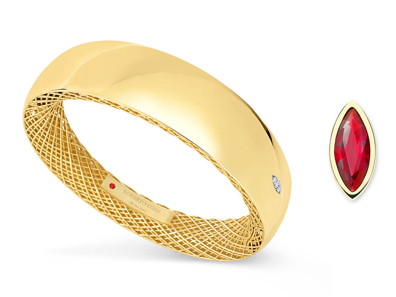 Roberto Coin Gold and Ruby Ring