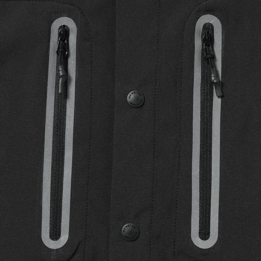 andwander(アンドワンダー)/テックショートスリーブシャツ/ブラック/UNISEX