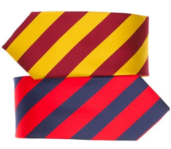 School colors striped ties