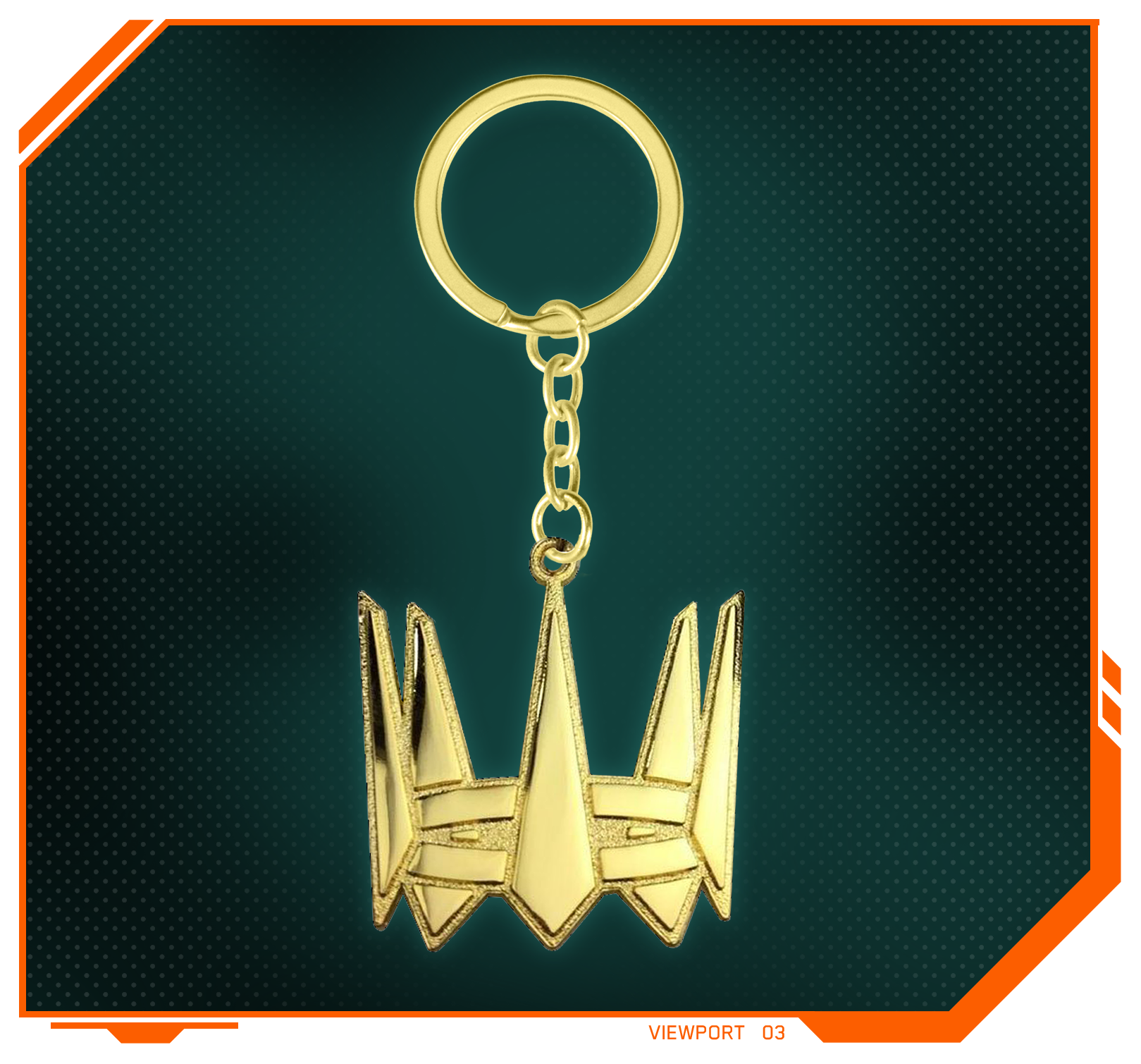 Stylized product image of the Hyper Scape Champion Key Chain