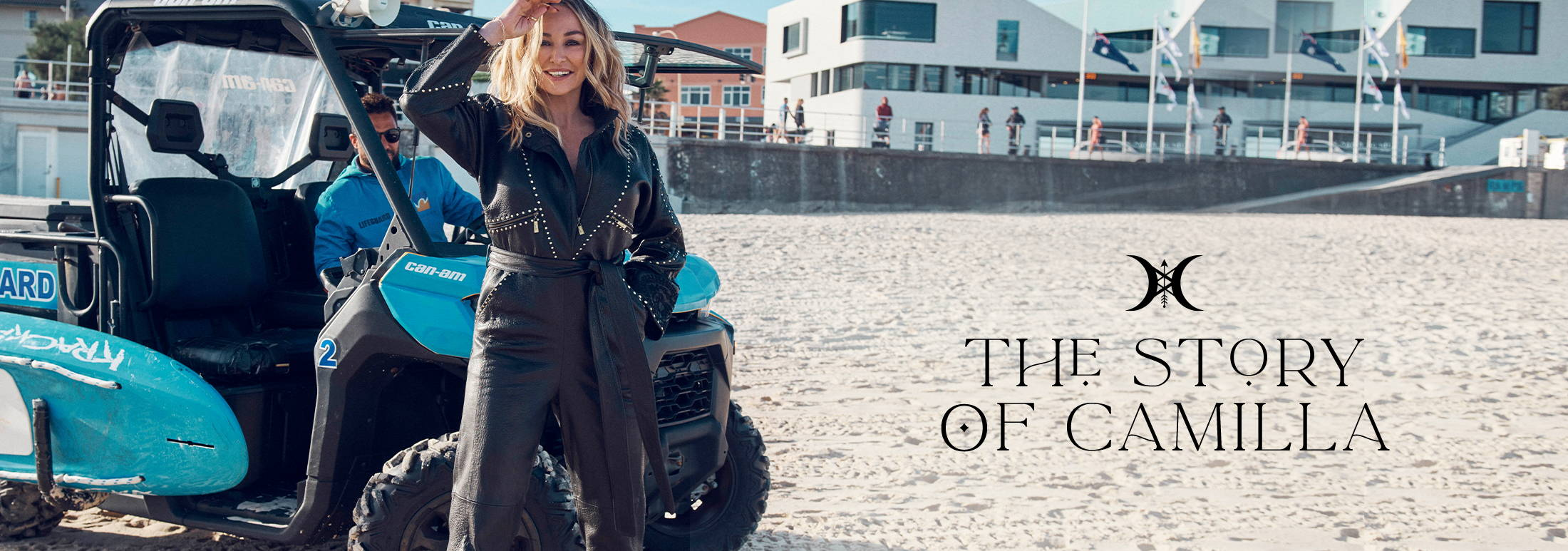 The Story Of CAMILLA | CAMILLA Franks wearing CAMILLA Leather Jumpsuit