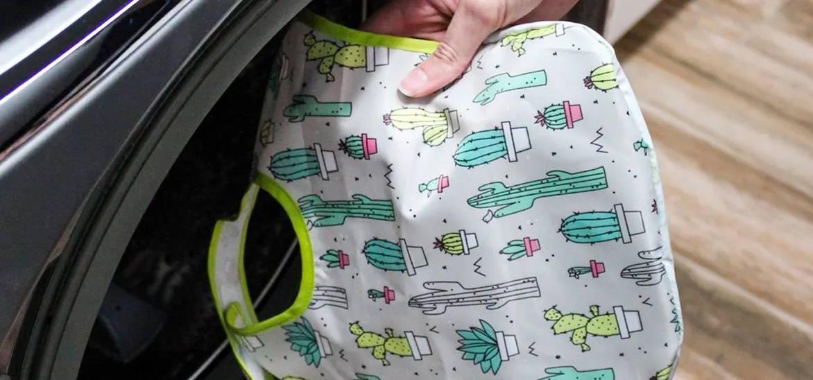 cactus bumkins baby bib in the washing machine