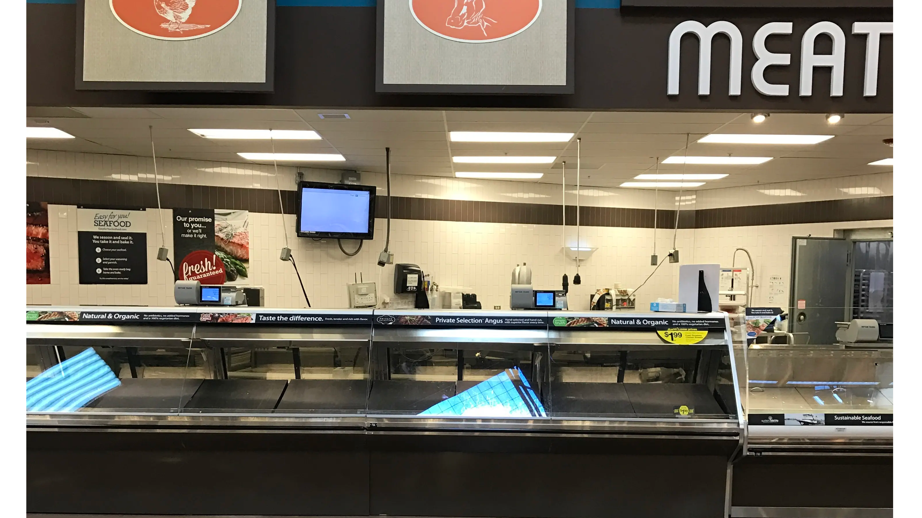 Food processing digital signage enclosure