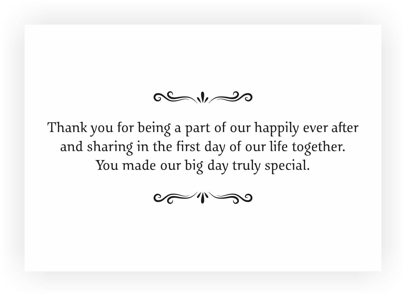 Thank You Note to accompany your wedding Return Gift – CHOCOCRAFT