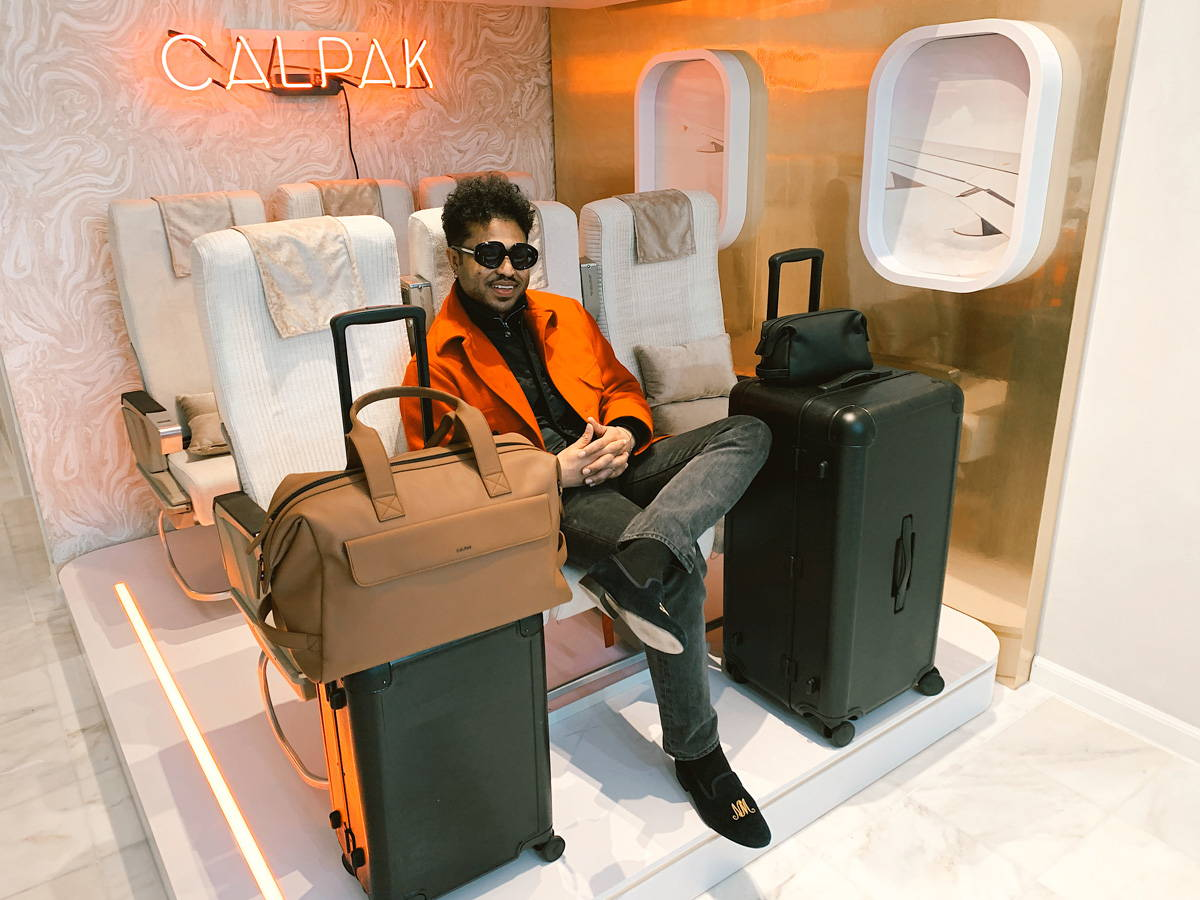 Nikkolos with the Jen Atkin Collection Trunk and Carry-on Luggage as well as the Hue Duffel and Toiletry Bag