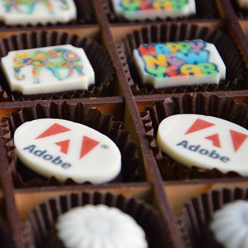 Adobe printed chocolates
