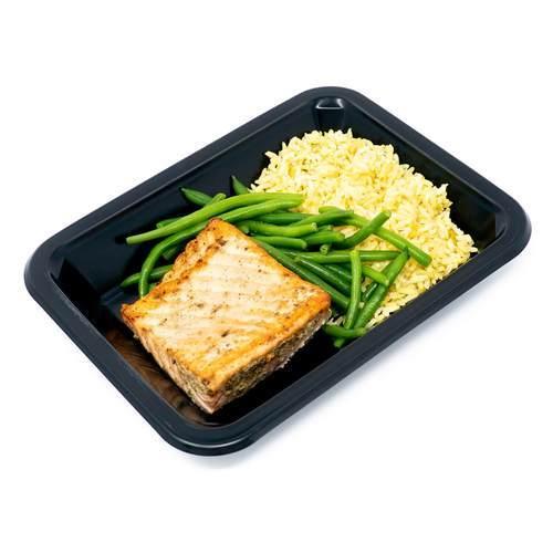 Salmon, Saffron Rice, & Green Beans