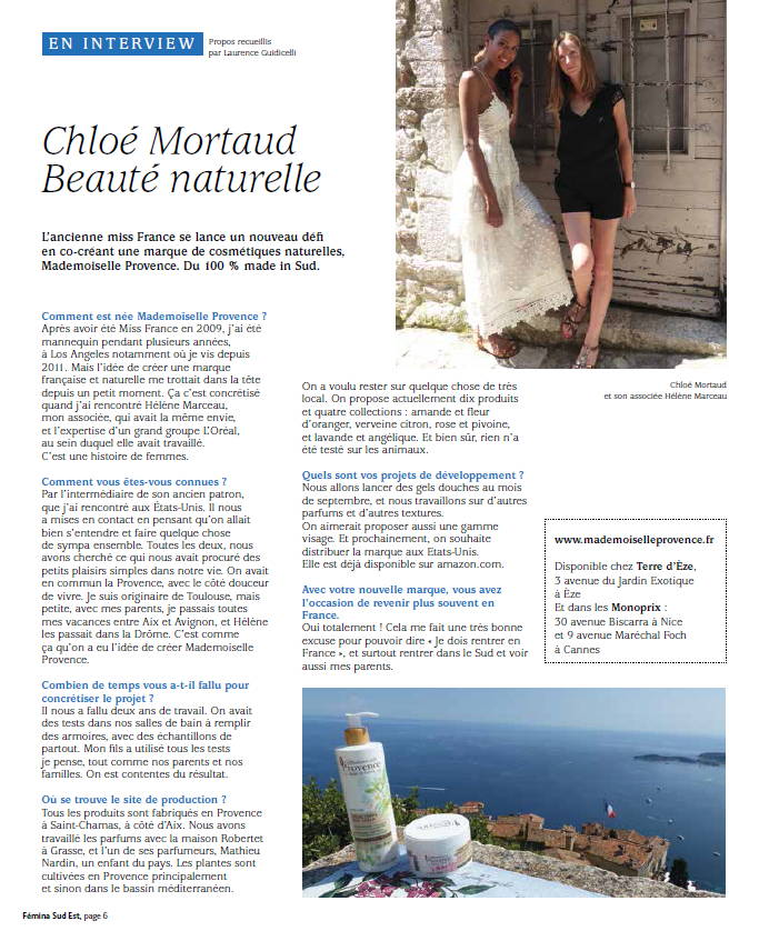 Press Mademoiselle Provence