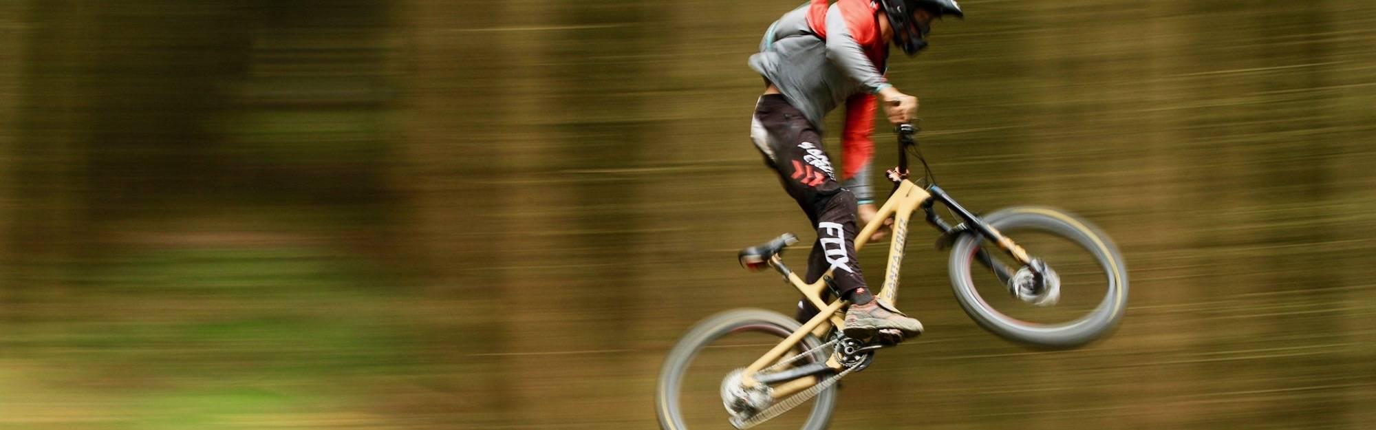 Jumps on  Santa Cruz MTB .