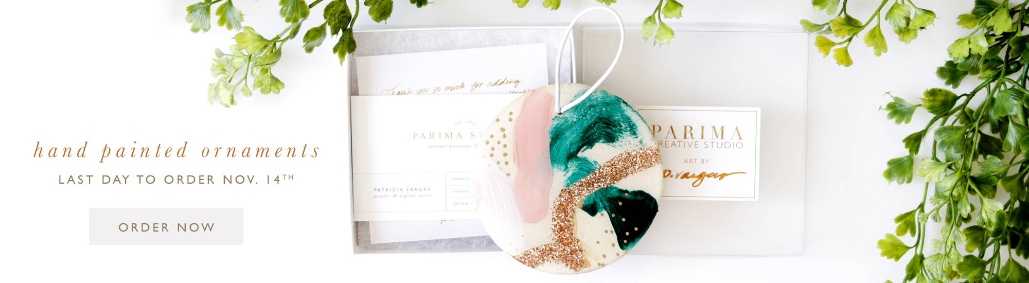 Hand painted ornaments by Parima Studio, abstract art