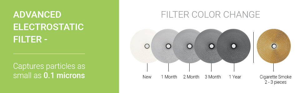 stages of the filter after 1 year. replace filter after 12 months