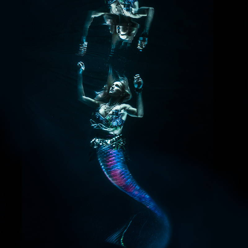 FoxFury lights are used for this underwater mermaid photoshoot