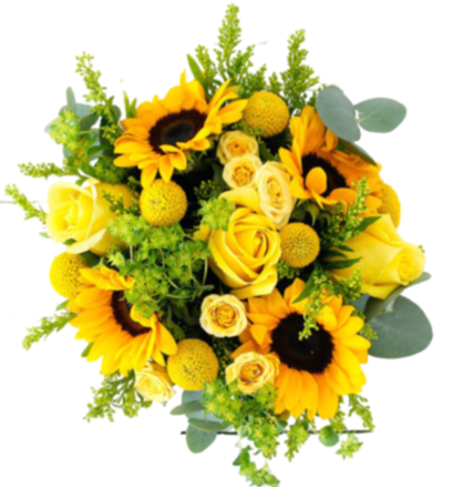 Sunny Day Hatbox including Sunflowers