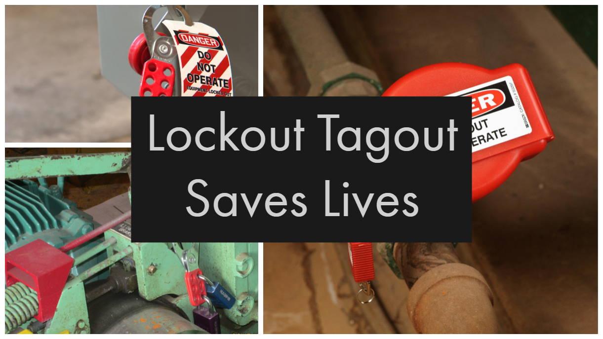 Lockout Tagout Saves Lives Sign