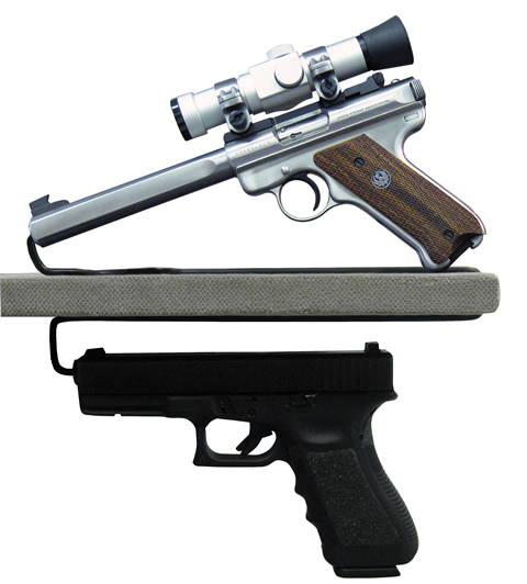 handgun hangers