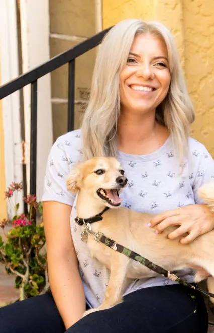 Sylvia Wes, Los Angeles based, certified positive reinforcement dog trainer.