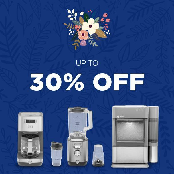 Spring Sale. up to 30% off on Small Appliances