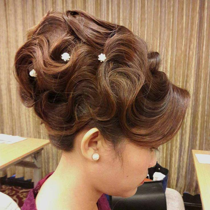 Formal Finger Wave Updo Hairstyle