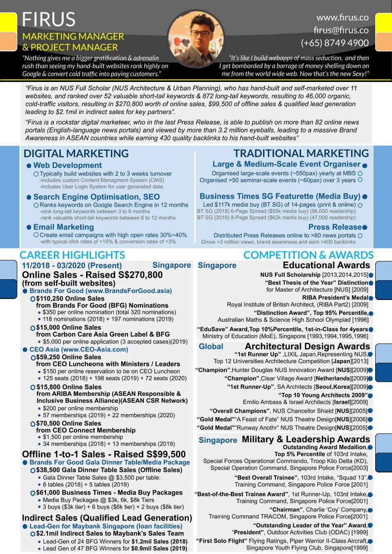 Firus CV Resume Page 1