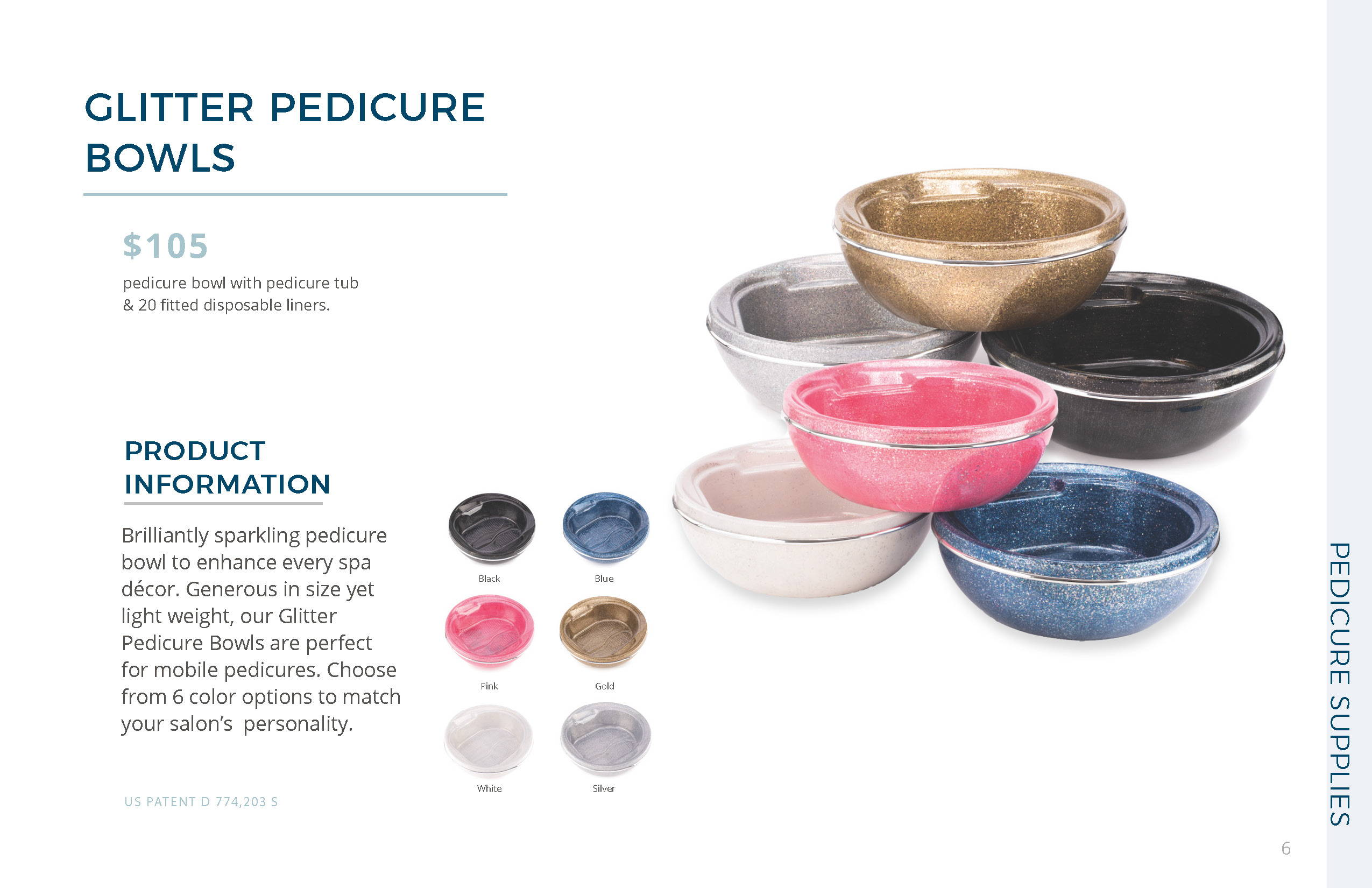 Glitter Bowls in Different Colors by Belava