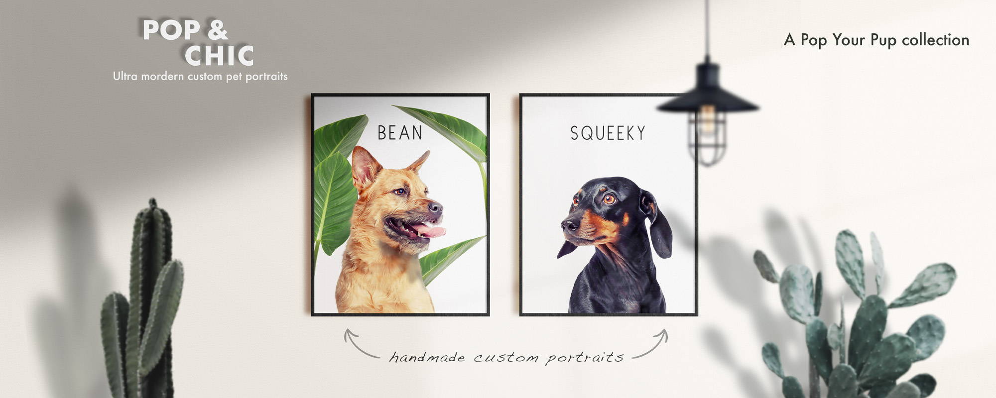 Pop Chic Banner image 2 modern personalized pet portraits