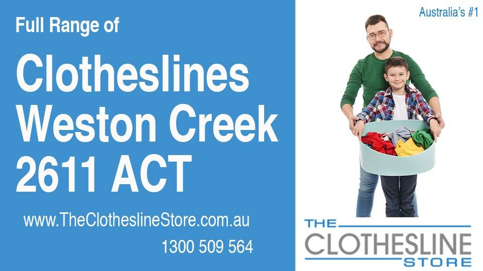 New Clotheslines in Weston Creek ACT 2611